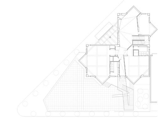 室外楼梯手绘设计图