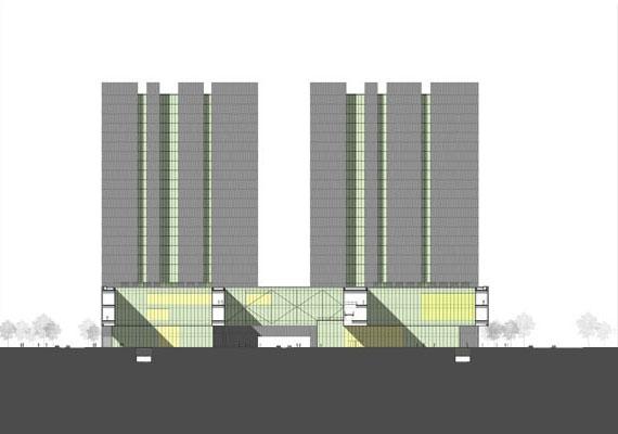 建筑设计策略  秉承开放性档案服务理念,积极建立档案中心与周边